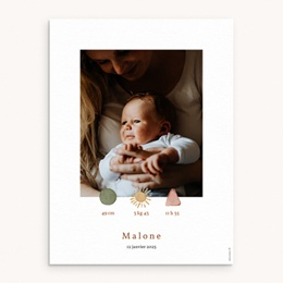 Affiche Déco Chambre Enfant Trio de formes, Portrait, 30 x 40 cm