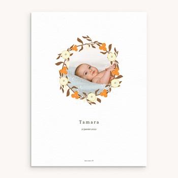 Affiche Déco Chambre Enfant Couronne d'oranges, Fleurs, Photo original