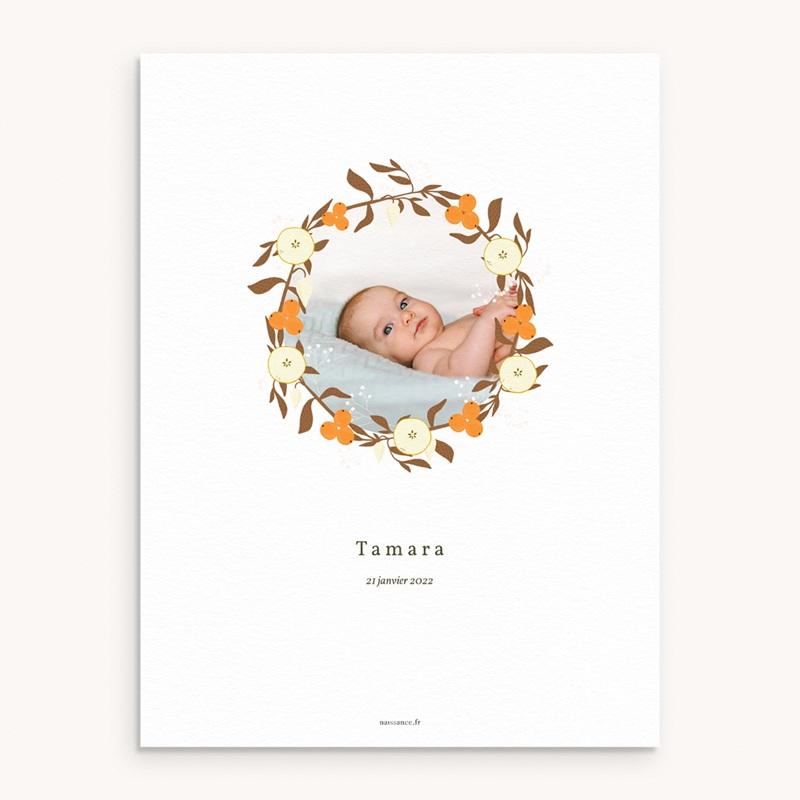 Affiche Déco Chambre Enfant Couronne d'oranges, Fleurs, Photo