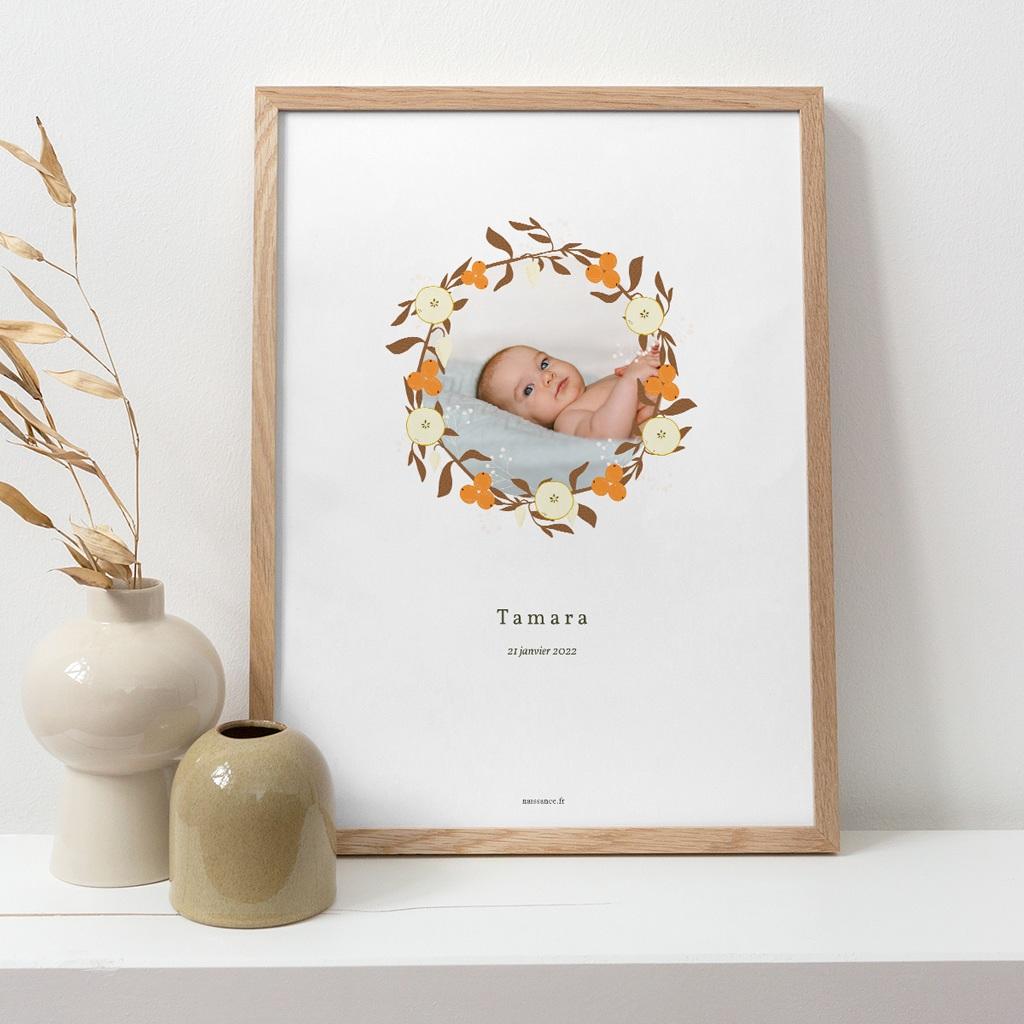 Affiche Déco Chambre Enfant Couronne d'oranges, Fleurs, Photo pas cher