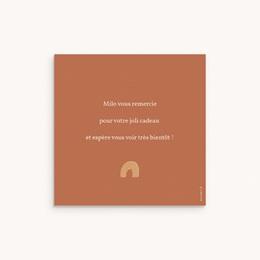 Carte de Remerciement Naissance Lettres d'Amour, Automne, 10 x 10 pas cher