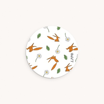 Sticker Enveloppe Naissance motif Renard, 4,5 cm