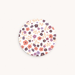 Sticker Enveloppe Naissance Petit Mot Fleuri, 4,5 cm