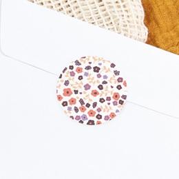 Sticker Enveloppe Naissance Petit Mot Fleuri, 4,5 cm gratuit