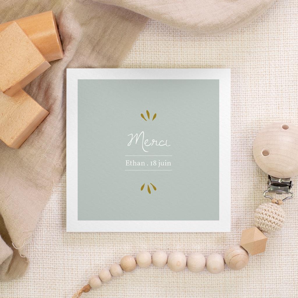 Carte de Remerciement Baptême Avec amour, 10 x 10 cm gratuit