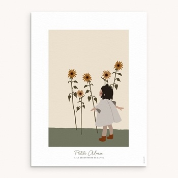 Affiche Déco Chambre Enfant - Petite Brune - 0