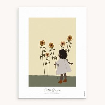 Affiche Déco Chambre Enfant Petite Fille Métisse personnalisé