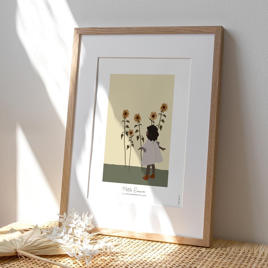 Affiche Déco Chambre Enfant Petite Fille Métisse