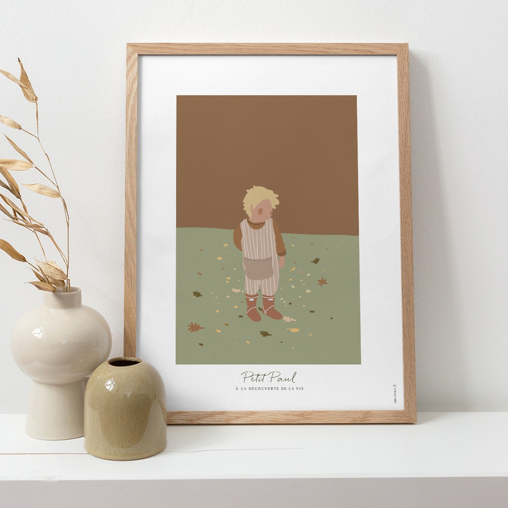 Affiche Déco Chambre Enfant Petit blondinet pas cher