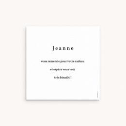 Carte de Remerciement Naissance Coccinelles, cerises & trèfle, 10 x 10 cm pas cher