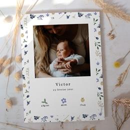 Affiche Déco Chambre Enfant Fleurs et trèfles bleus, 30 x 40 cm gratuit