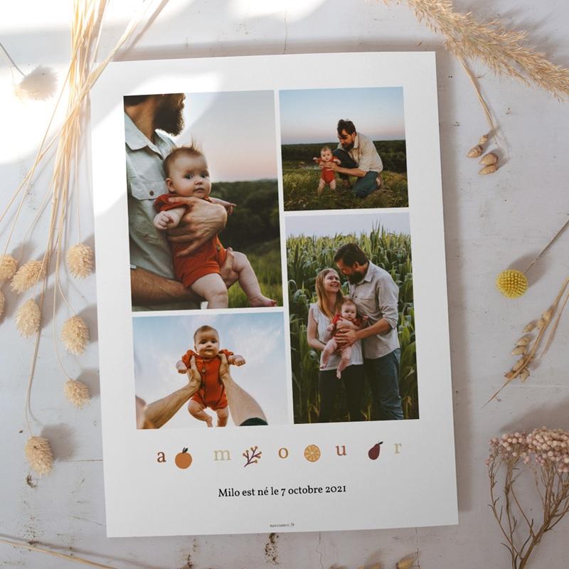 Affiche Déco Chambre Enfant Lettres d'Amour automnales, 30 x 40 cm gratuit