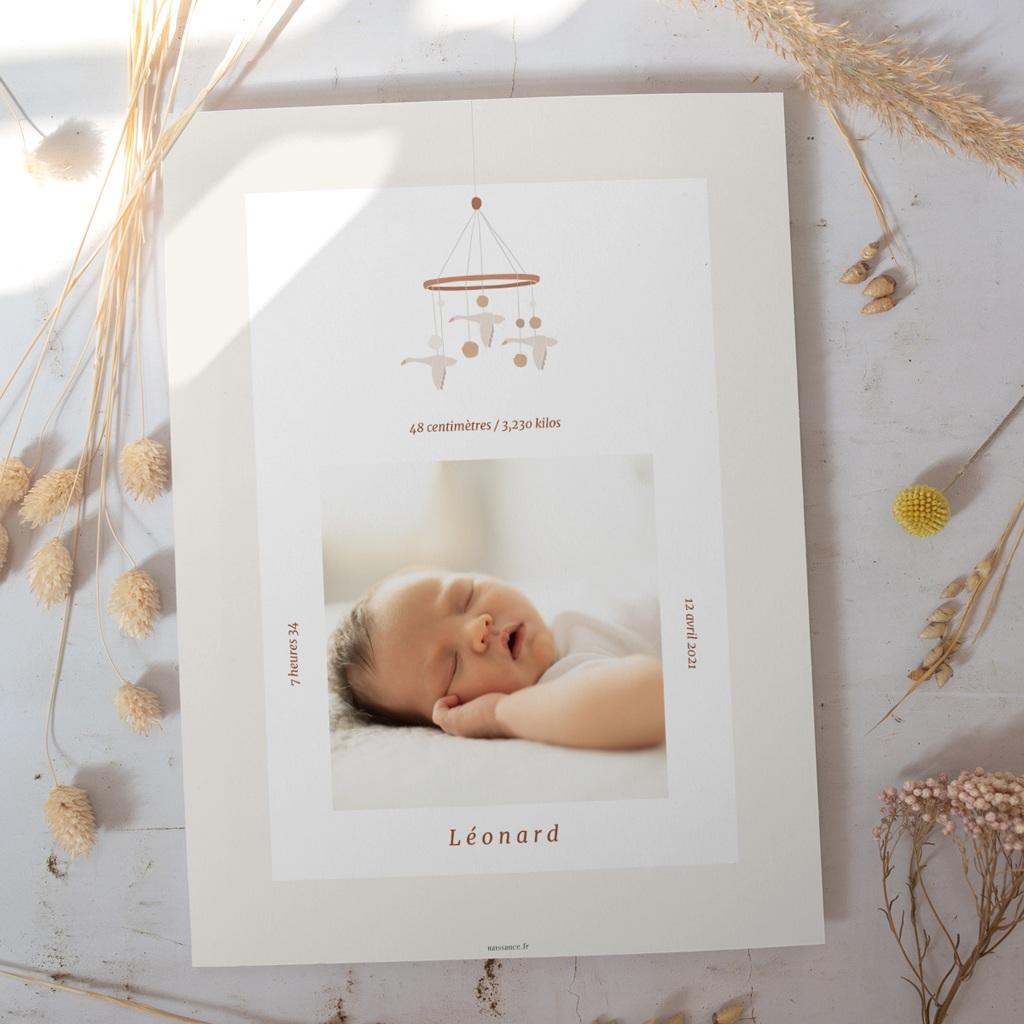 Affiche Déco Chambre Enfant Mobile oies, Portrait, 30 x 40 cm gratuit