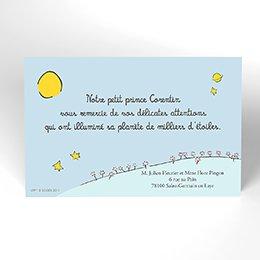 Carte de Remerciement Naissance Le Petit Prince 2