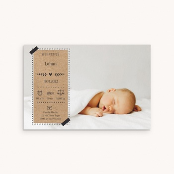 Faire-part de Naissance - Kraft & Photo, 10 x 15 cm - 0