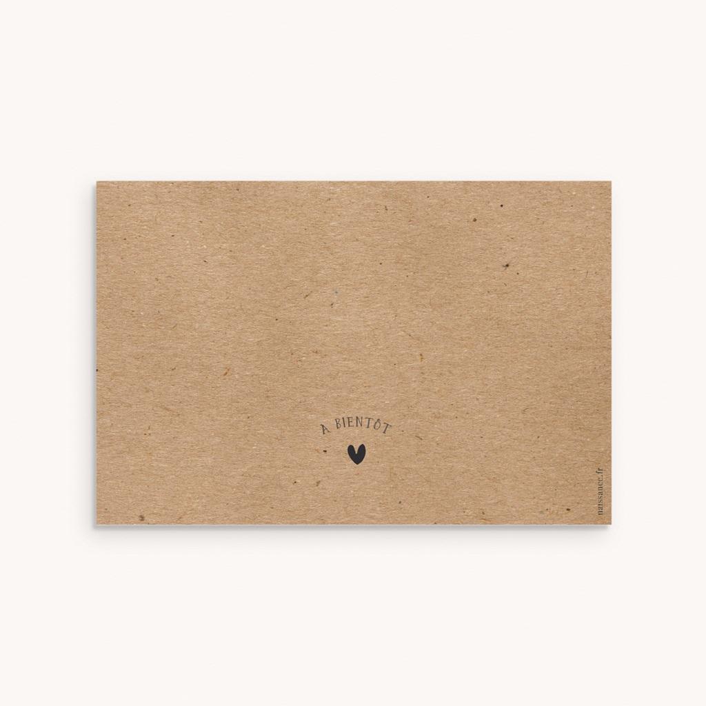 Faire-part de Naissance Kraft & Photo, 10 x 15 cm pas cher
