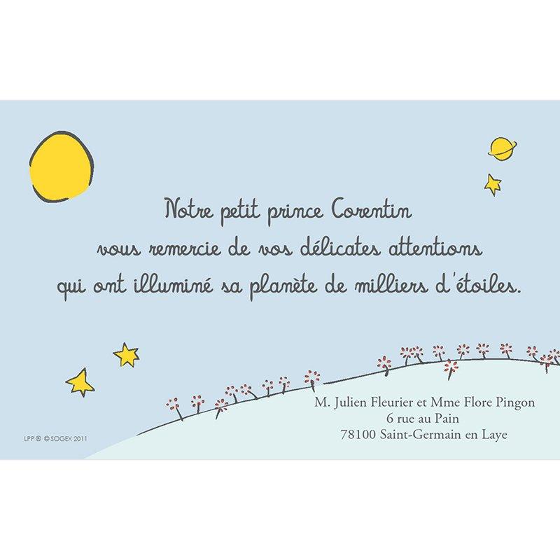 Carte de Remerciement Naissance Le Petit Prince 2 pas cher