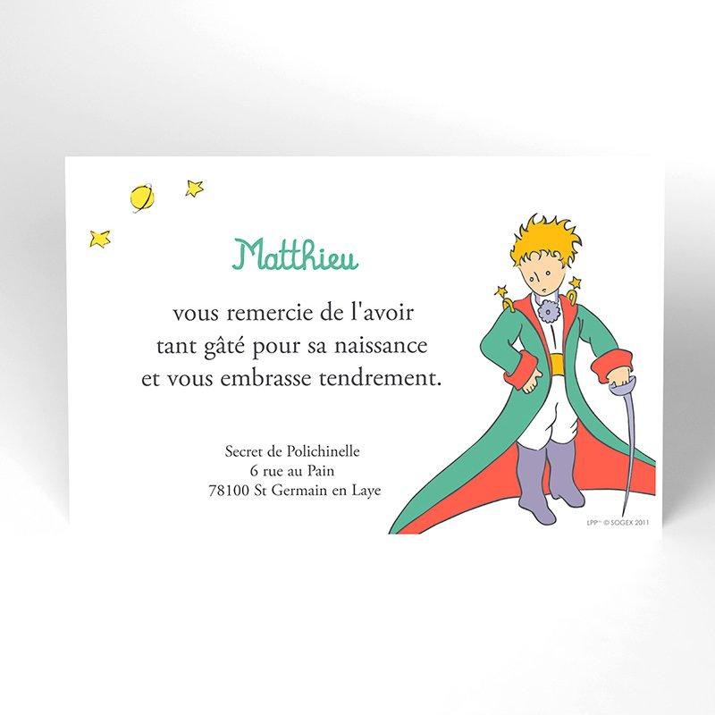 Carte de Remerciement Naissance Le Petit Prince 5