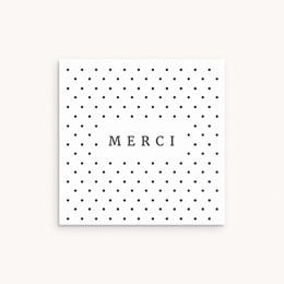 Carte de Remerciement Naissance Tendres Pois, 10 x 10