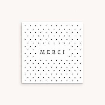 Carte de Remerciement Naissance Noir et Blanc