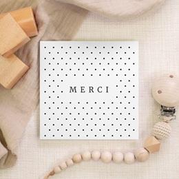 Carte de Remerciement Naissance Tendres Pois, 10 x 10 gratuit