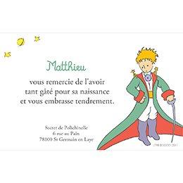 Carte de Remerciement Naissance Le Petit Prince 5 pas cher