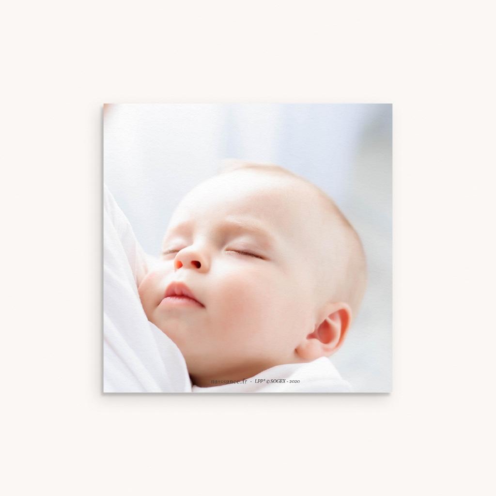 Carte de Remerciement Naissance La rose dorée du Petit Prince, 10 x 10 pas cher