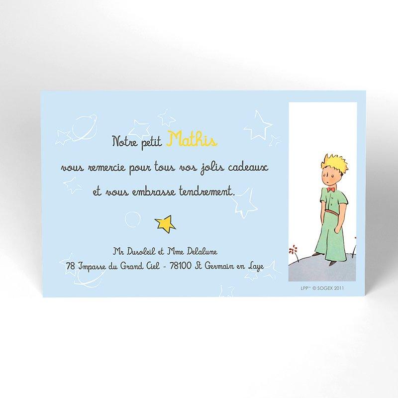 Carte de Remerciement Naissance Le Petit Prince 7