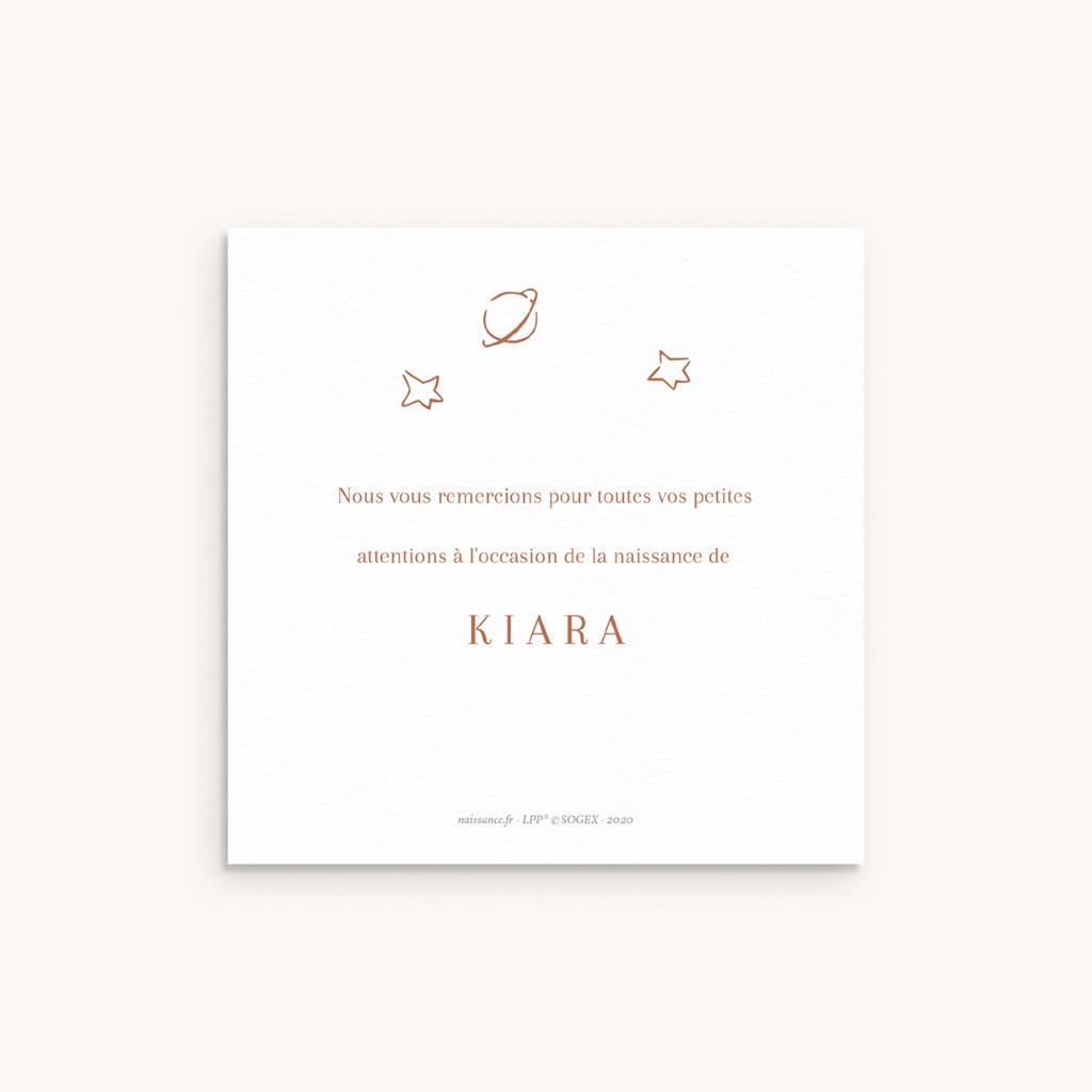 Carte de Remerciement Naissance Initiale d'une Petite Princesse, 10 x 10 cm pas cher