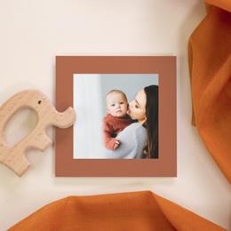 Carte de Remerciement Naissance Initiale d'une Petite Princesse, 10 x 10 cm