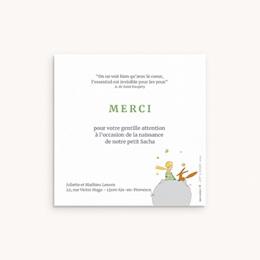 Carte de Remerciement Naissance Initiale du Renard, photo pas cher