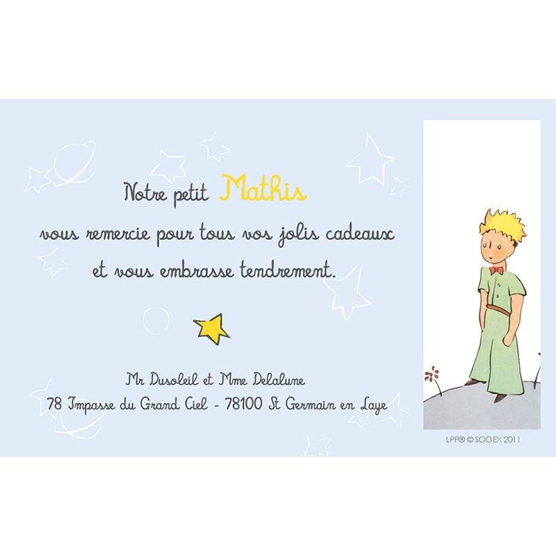 Carte de Remerciement Naissance Le Petit Prince 7 pas cher