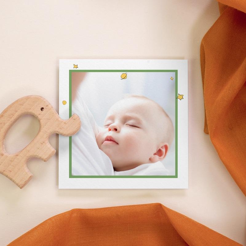 Carte de Remerciement Naissance Initiale du Renard, photo