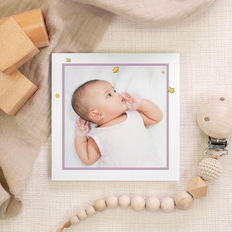 Carte de Remerciement Naissance Initiale de la Rose, 10 x 10, photo gratuit