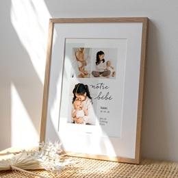 Affiche Déco Chambre Enfant Notre bébé garçon, 30 x 40 cm