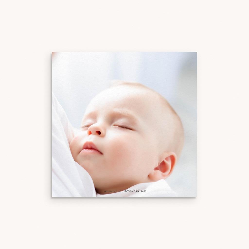 Carte de Remerciement Naissance Le secret dévoilé, dorure, 10 x 10 pas cher
