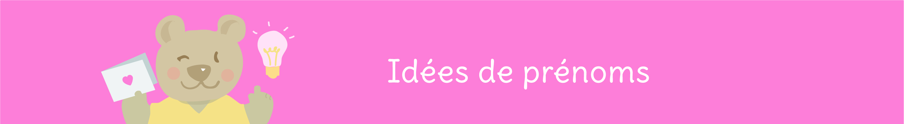 idees de prénoms bébé par thème